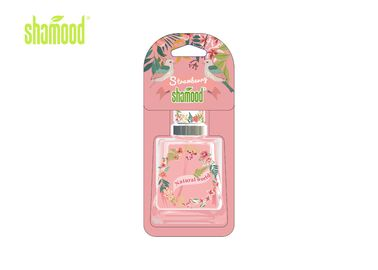 Strawberry Fragrance Hanging Paper Air Freshener, Rear View Mirror Type